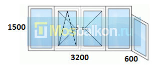 Цены на остекление балконов в домах серии 1-515/9ш мосбалкон.