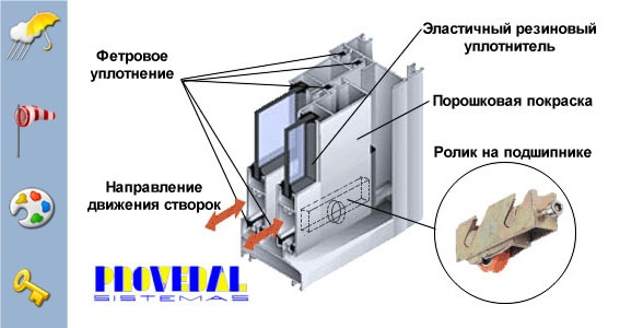 Сборка алюминиевых раздвижных конструкций балконы допуски..