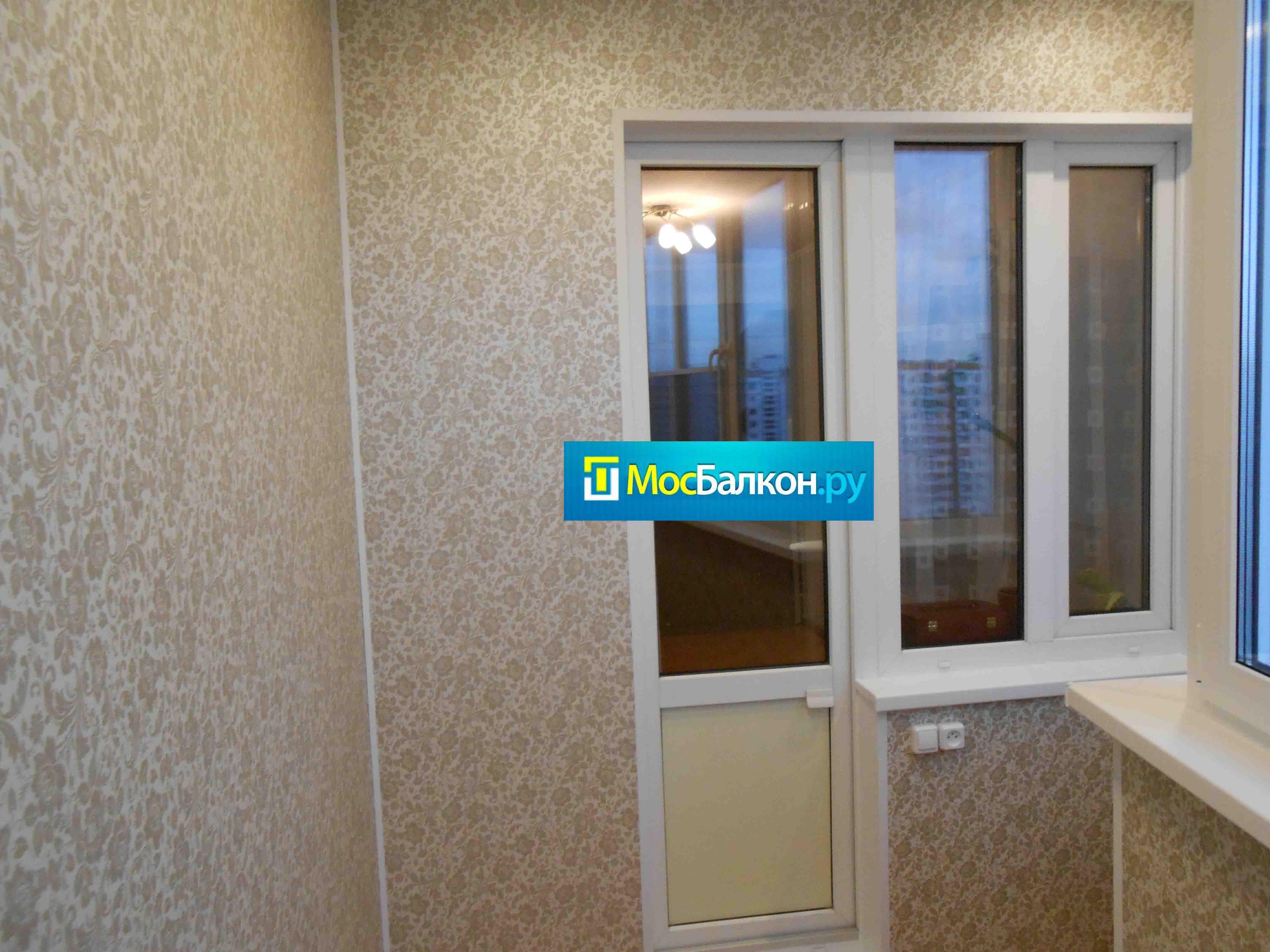 Отделка балкона панелями пвх мосбалкон.ру.