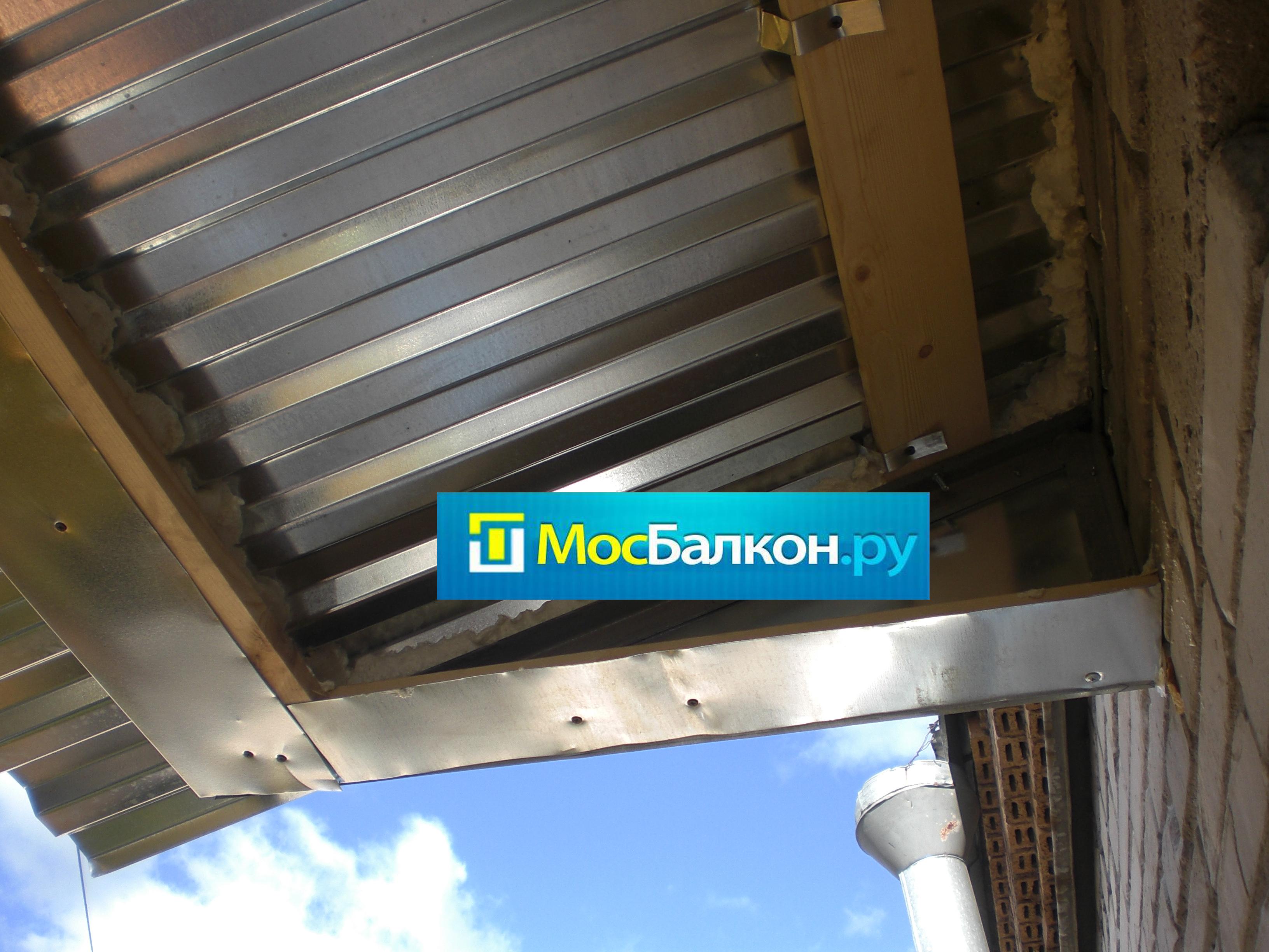 Крыши на балконы.