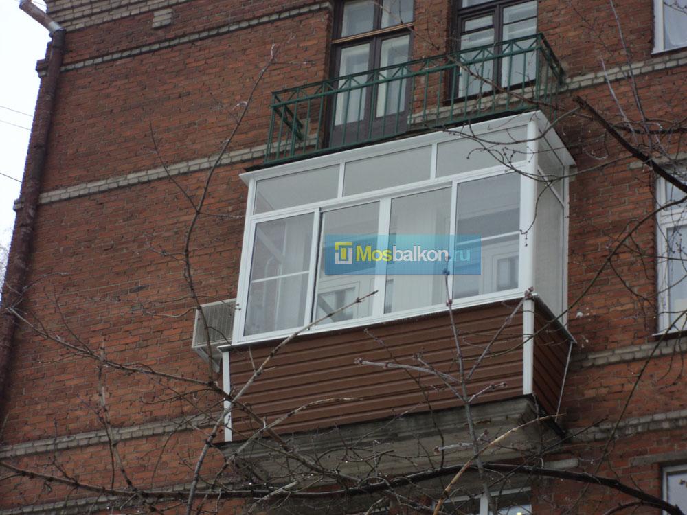 Внешняя отделка балконов.