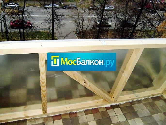 Укрепление балкона перед остеклением.
