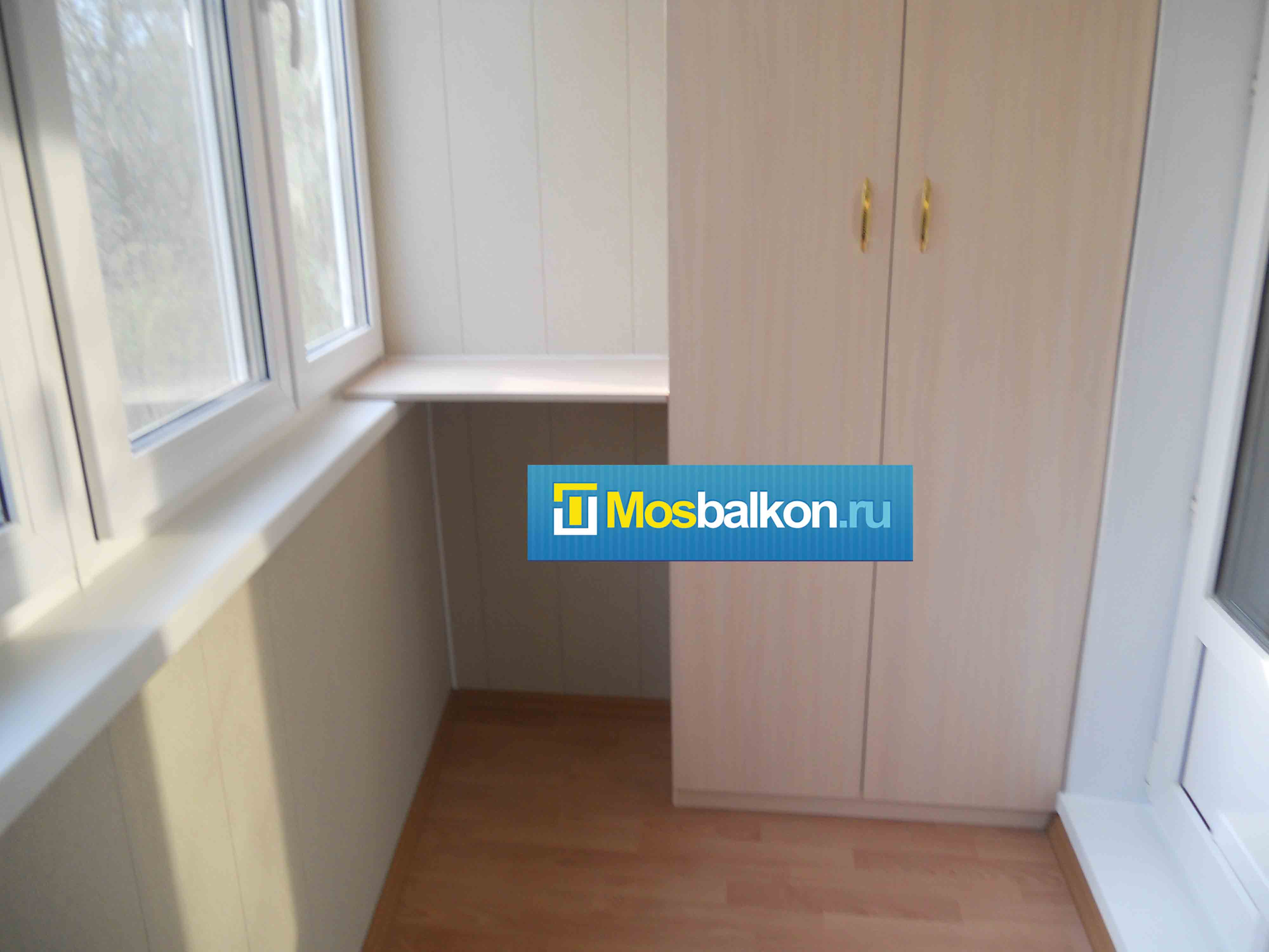 Установка шкафов на балконы и лоджии мосбалкон.ру.