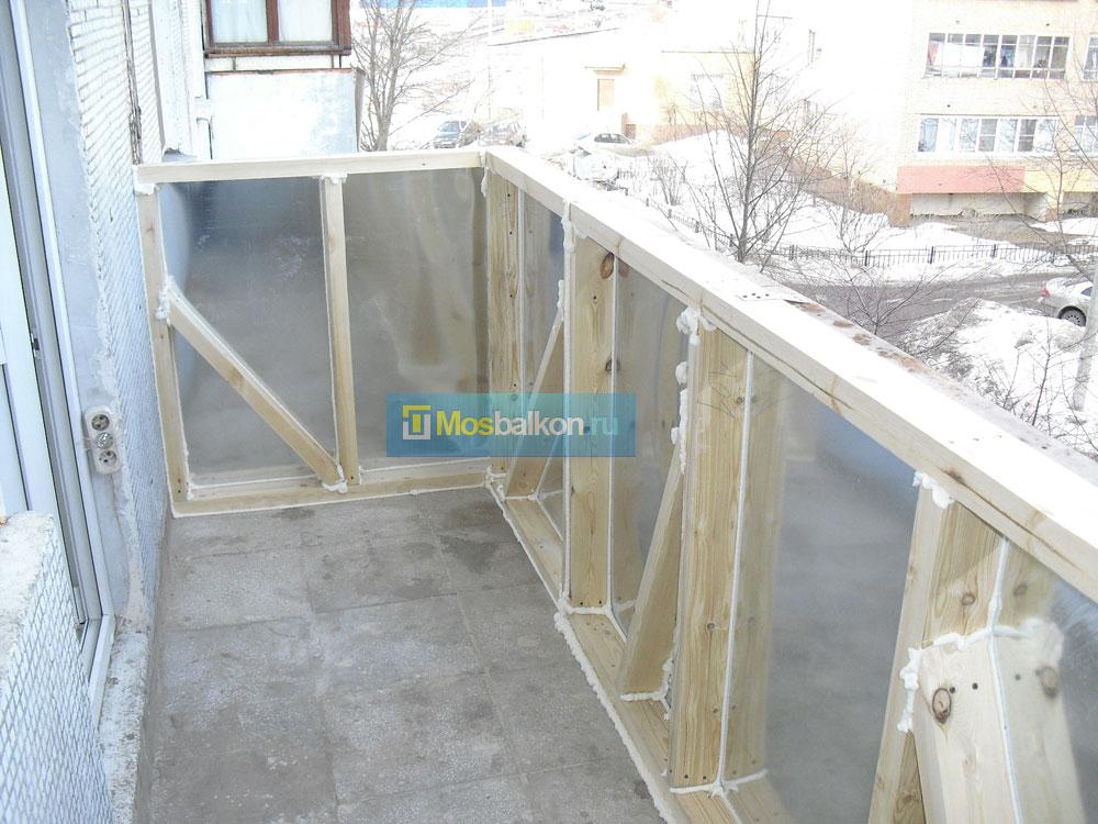 Каркасный балкон своими руками 390